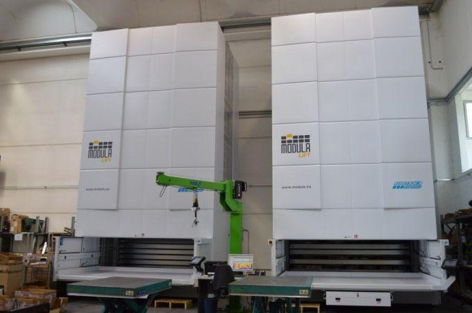Vertikale modulare Lagerung MODULA MX75D